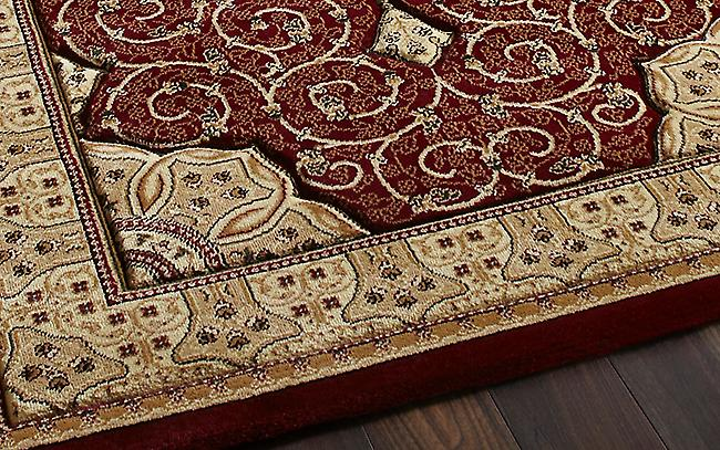 Heritage 4400 Red Red background with a complimentary beige boarder Rectangle Rugs Traditional Rugs