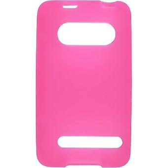 Pack 5 - Solutions sans fil Etui en Gel Silicone pour HTC EVO 4 9292 - rose foncé
