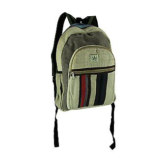 Natural and Grey Good Day Vibes Striped Pure Hemp Backpack