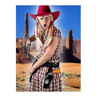 Weapons and tools  Cowboy holster with 2 guns adult
