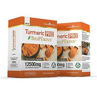 La cúrcuma Pro con BioPerine 12.500 mg 95% Curcuminoids - 120 cápsulas - quemador de grasa - evolución adelgazar