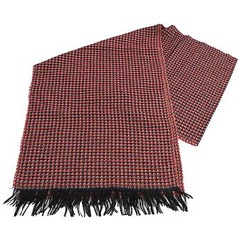 Bassin and Brown Shrewsbury Birdseye Wool Scarf - Orange/Black