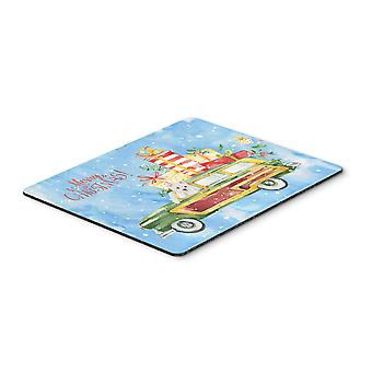 Merry Christmas Westie Mouse Pad, Hot Pad or Trivet