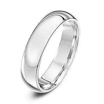 Anneaux de mariage Star 9ct or blanc lourds Cour forme 5mm bague de mariage