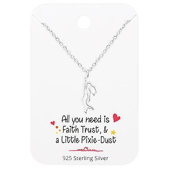 Meerjungfrau Kette auf motivierenden Zitat Karte - 925 Sterling Silber-Sets - W36092X