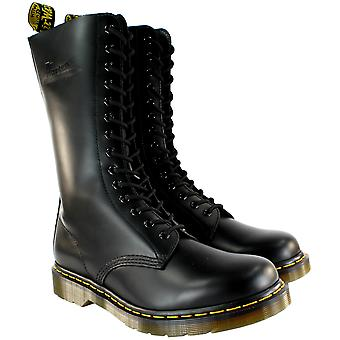 Womens Dr Martens 1914 Mid Calf Lace Up Black Leather Military Boot