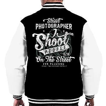 Varsity Jacket fotografo di strada maschile