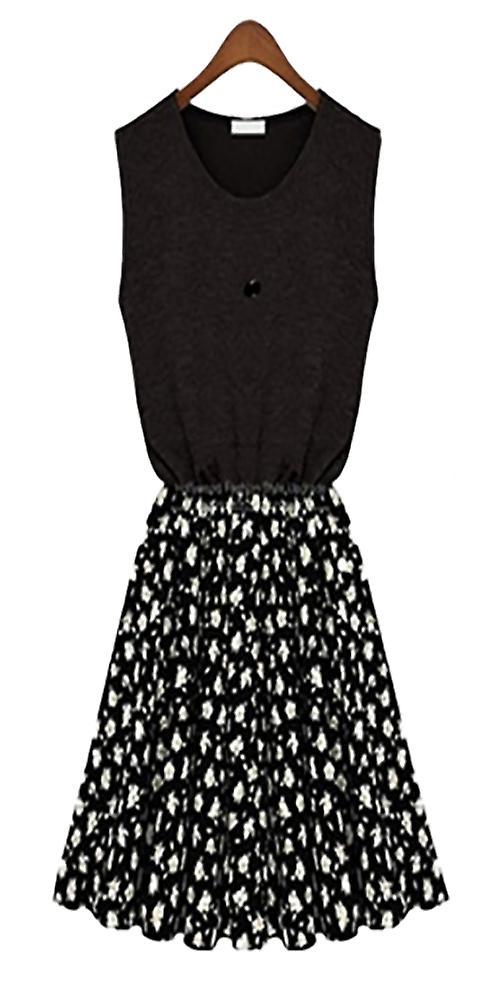 Waooh - casual dress flower motif Naid