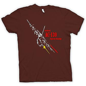Mens T-shirt-Lockheed Ac0 Spectre Gunship