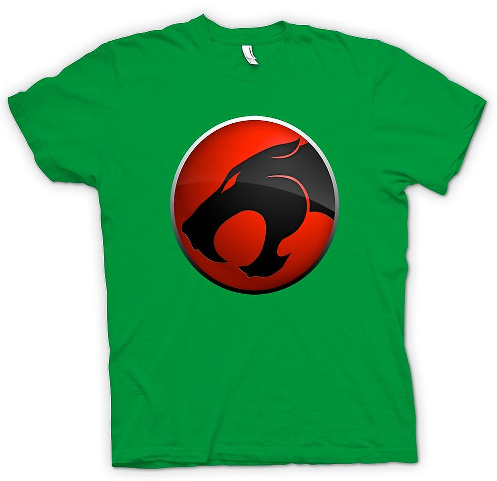 Mens T-shirt - Thundercats Red / Black Logo