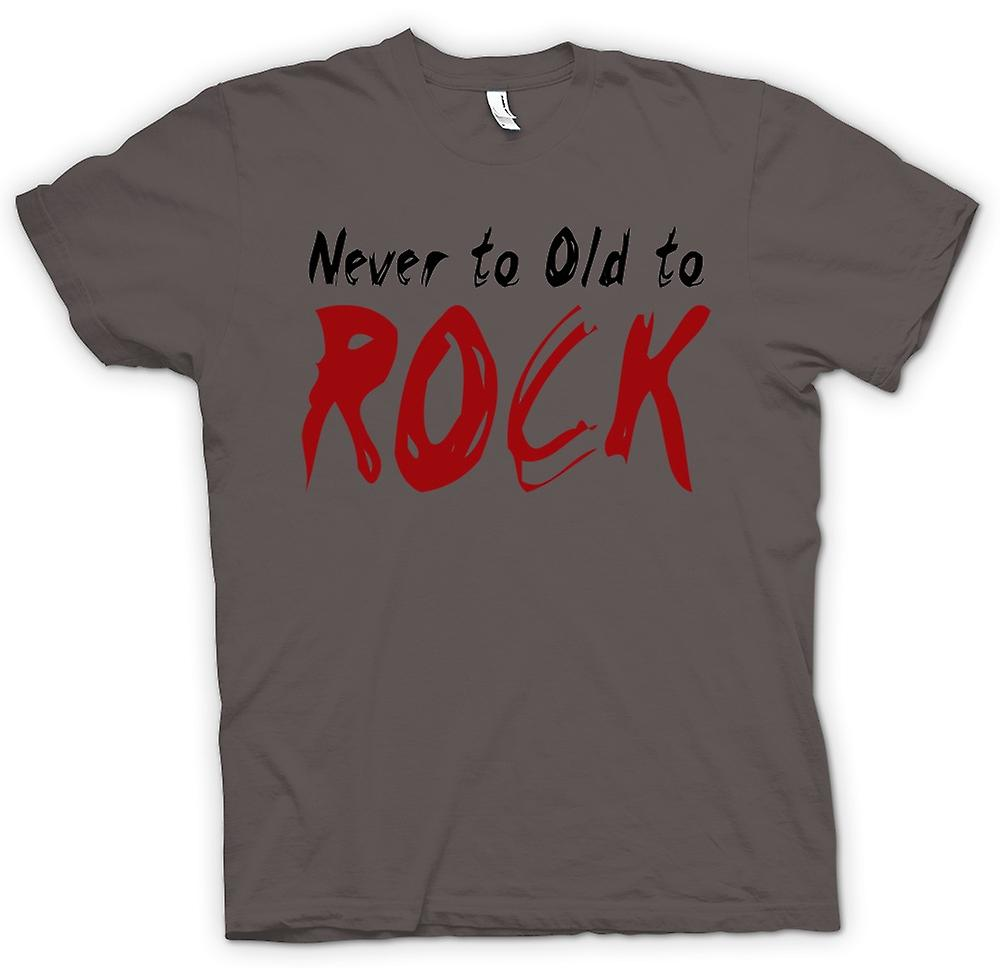 T-shirt - Never Too Old To Rock - Funny