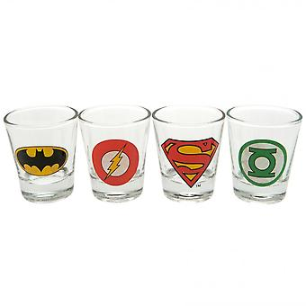 DC Comics Official Shot Glass Set (Pack Of 4)