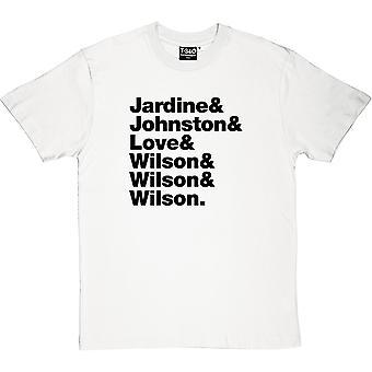 The Beach Boys Line-Up Men's T-Shirt