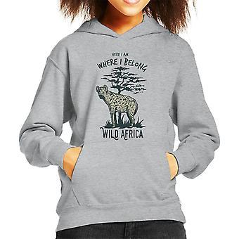 Hyena Wild Africa Kid's Hooded Sweatshirt