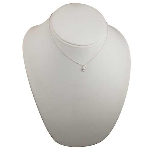 Silver 8x8mm heart symbol of charity Pendant with a rolo Chain 16 inches Only Suitable for Children