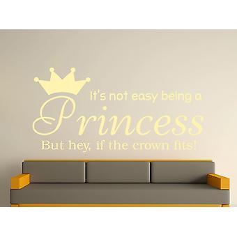 Being A Princess Wall Art Sticker - Beige