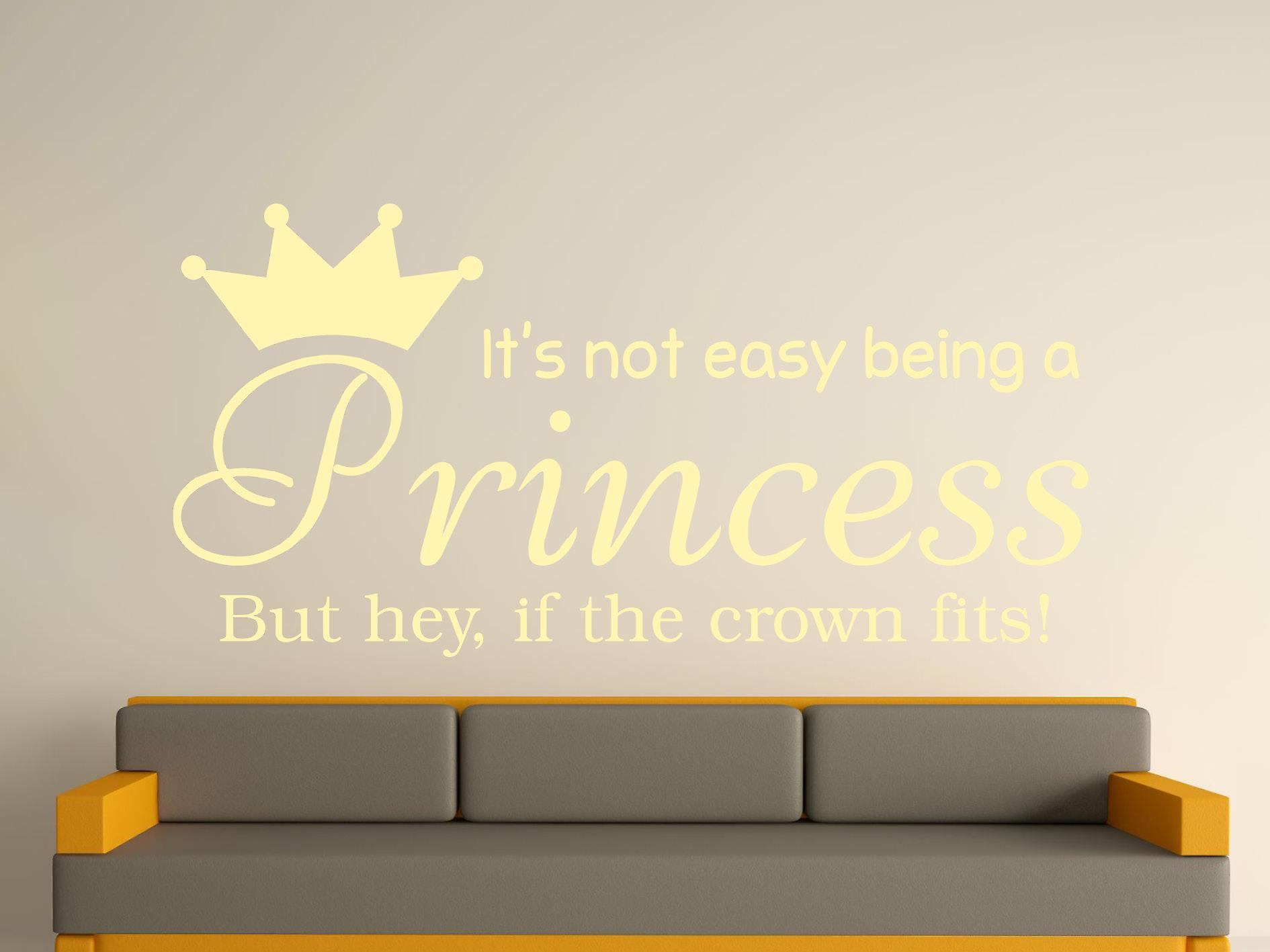 Being A Princess Wall Art Sticker - Beige
