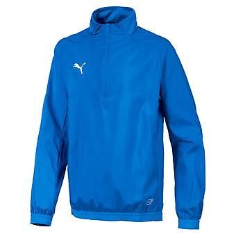 PUMA LIGA Training Windbreaker Jr Kinder Pullover Electric Blau Lemonade-Weiss