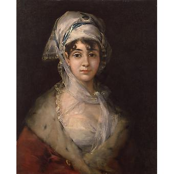 Portrait of Antonia Zarate,Francisco Jose de Goya,50x40cm
