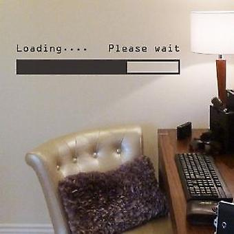 Loading please wait wall sticker
