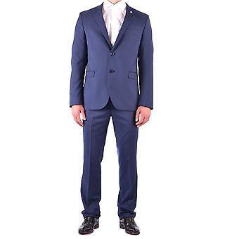 Manuel Ritz Blue Polyester Suit