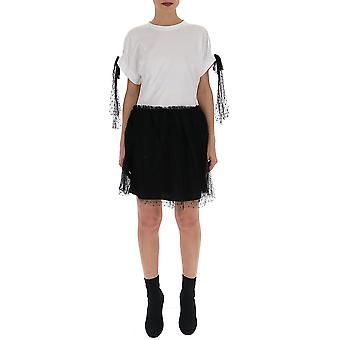 Red Valentino White/black Cotton Dress