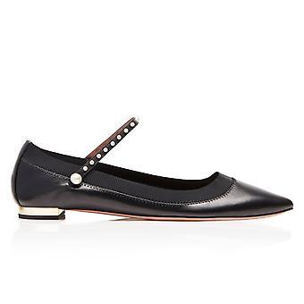 Aquazzura Black Leather Flats