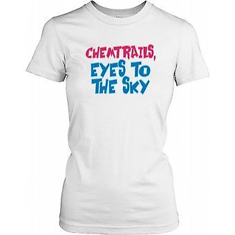 Chemtrails øyne mot himmelen - konspirasjon damer T skjorte
