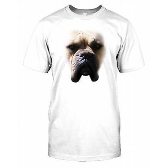 Amerikanske Mastiff stamtavle hund ansigt børn T Shirt