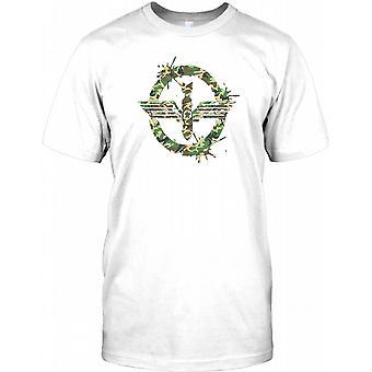Pokoju - Camo bomba efekt męskie T Shirt