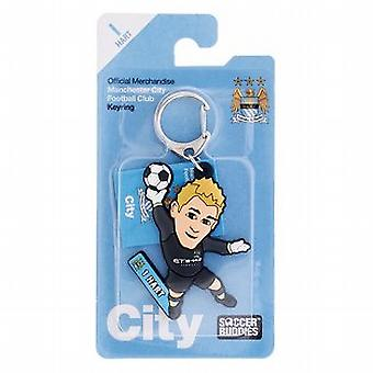 Manchester City Official Licensed Soccer Buddies Football Keyring - Joe Hart