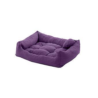 PetKlub paars 75cm x 65cm getufte hond bed