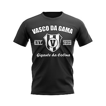 Vasco da Gama etablerad fotboll T-shirt (svart)