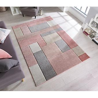 Hand Carved Cosmos Dusky Pink  Rectangle Rugs Modern Rugs
