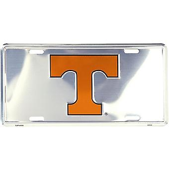 Tennessee Volunteers NCAA Silver Mirror License Plate