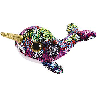 Ty - Beanie Boos Flippables Calypso The Narval Sequins Soft Toy