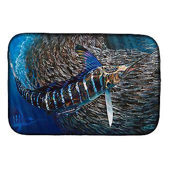 Carolines Treasures  JMA2014DDM Striped Gem Striped Marlin Dish Drying Mat