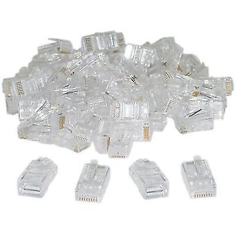 100 x RJ45 Connector Plug CAT 5e 8P8C Netowk Crimp Ends