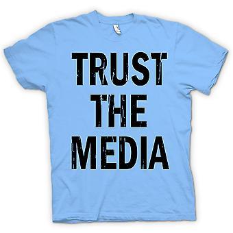 Kids T-shirt - Trust The Media - Funny