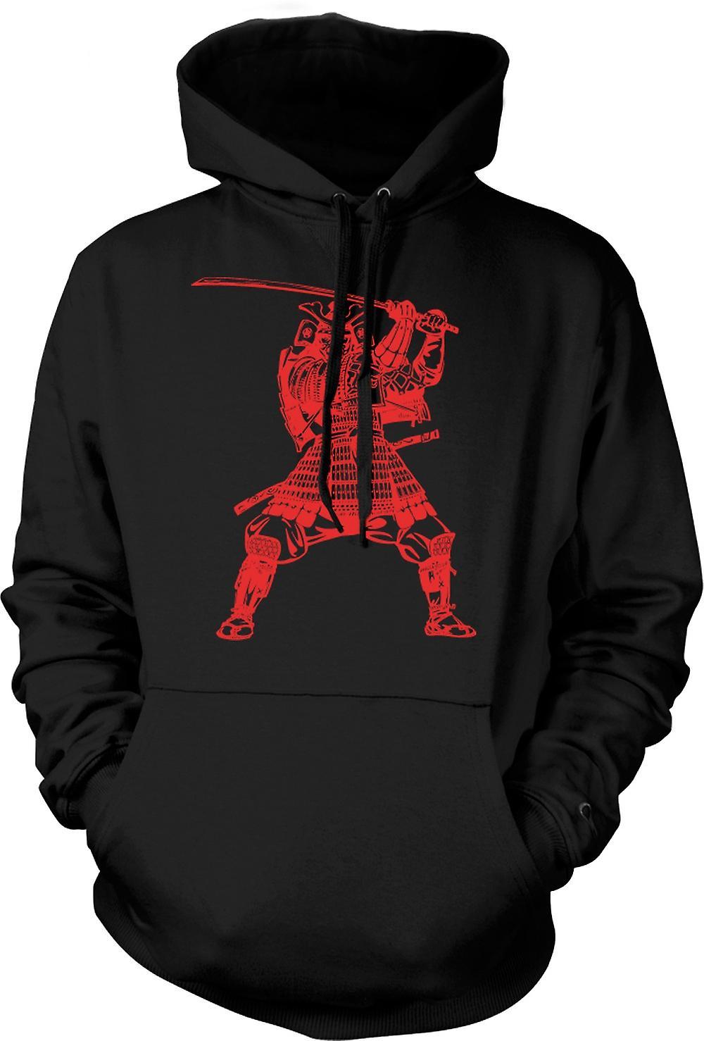 Mens Hoodie - guerrier samouraï