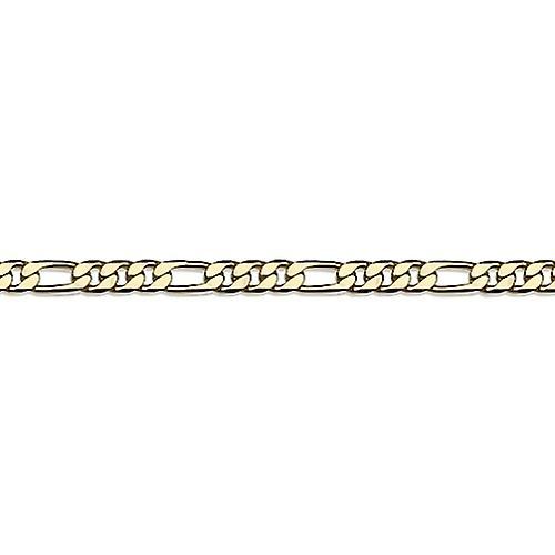 Bracelet Plaqué Or Figaro 3+1