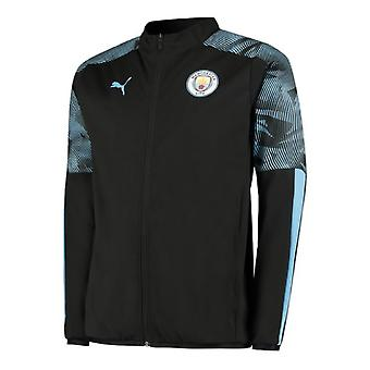2019-2020 Manchester City Puma Woven Jacket (Black)