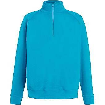 Fruit Of The Loom - Lightweight Zip Neck Mens Sweatshirt - Sports - Workwear - Gym