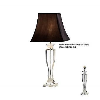 Diyas Carmela Crystal Table Lamp Without Shade 1 Light Silver Finish