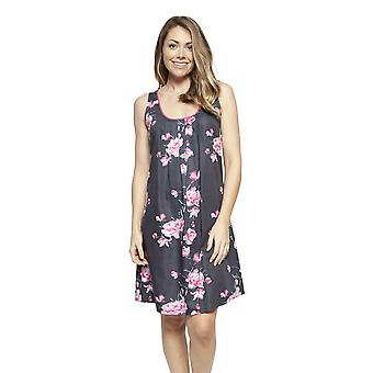 Cyberjammies 4248 Women's Lola Grey Mix Floral Cotton Chemise