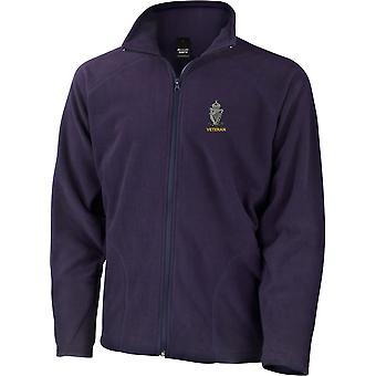 Royal Ulster Rifles RUR Veteran - Licensed British Army Embroidered Lightweight Microfleece Jacket