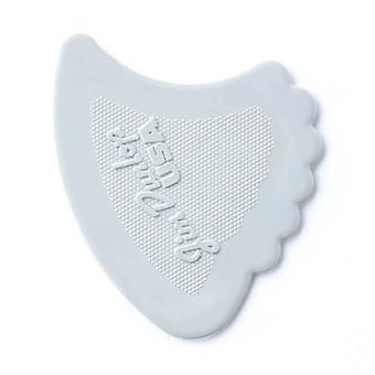 6 Jim Dunlop All In One Fins Guitar Picks/Plectrums - White Medium 0.67mm