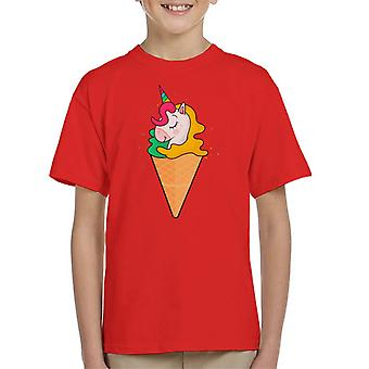 Unicorn Ice Cream Princess Kid's T-Shirt