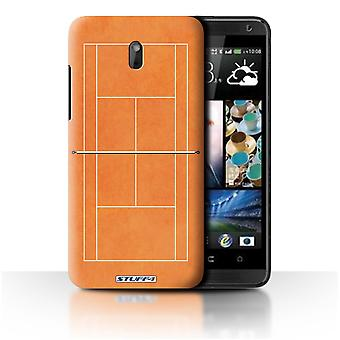 STUFF4 Case/Cover voor HTC Desire 609d/oranje Clay Hof/tennisbanen