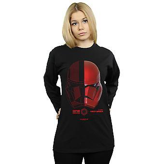 Star Wars der Aufstieg von Skywalker Sith Trooper Helm langärmeligen T-Shirt Frauen's Freund Fit